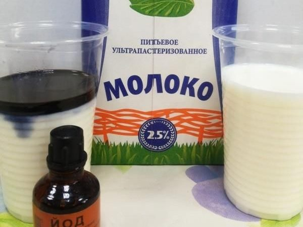 Молоко и йод