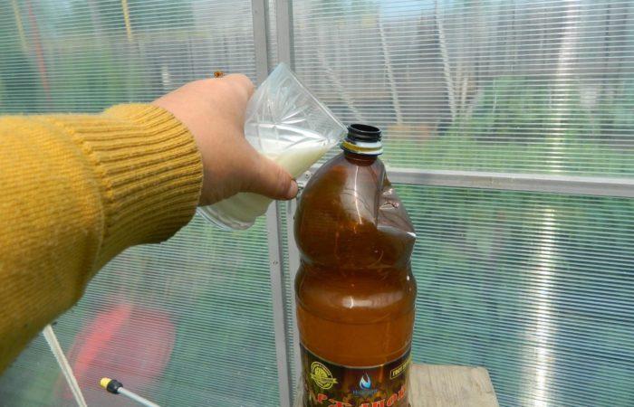 Приготовление молочной подкормки